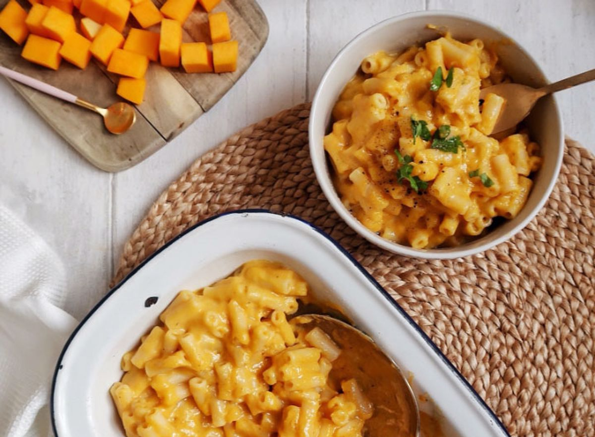 Bowls of Butternut Squash Mac and Cheese