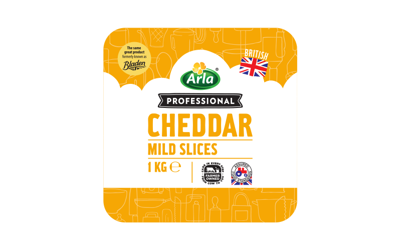 Arla® Professional (formerly known as Bladen® and Lockerbie®) BRITISH MILD WHITE SLICES 1 KG