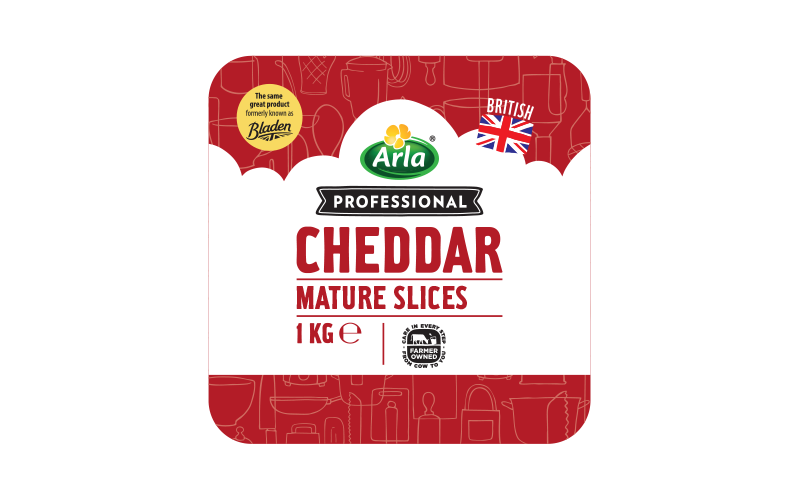 Arla® Professional (formerly known as Bladen® and Lockerbie®) BRITISH MATURE WHITE SLICES 1KG
