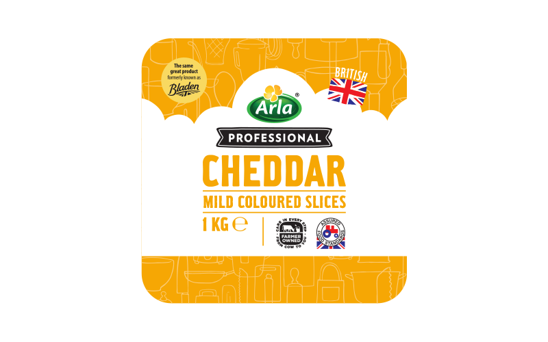 Arla® Professional (formerly known as Bladen® and Lockerbie®) BRITISH MILD COLOURED SLICES 1KG