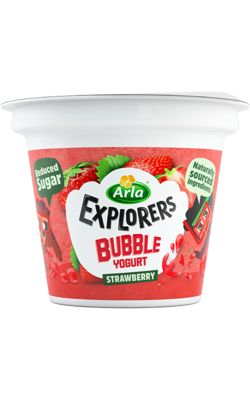 Explorers Bubble Strawberry 3 x 90 g