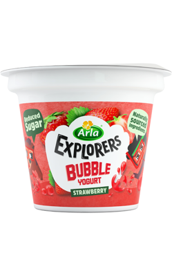 Bubble Strawberry 3 x 90 g
