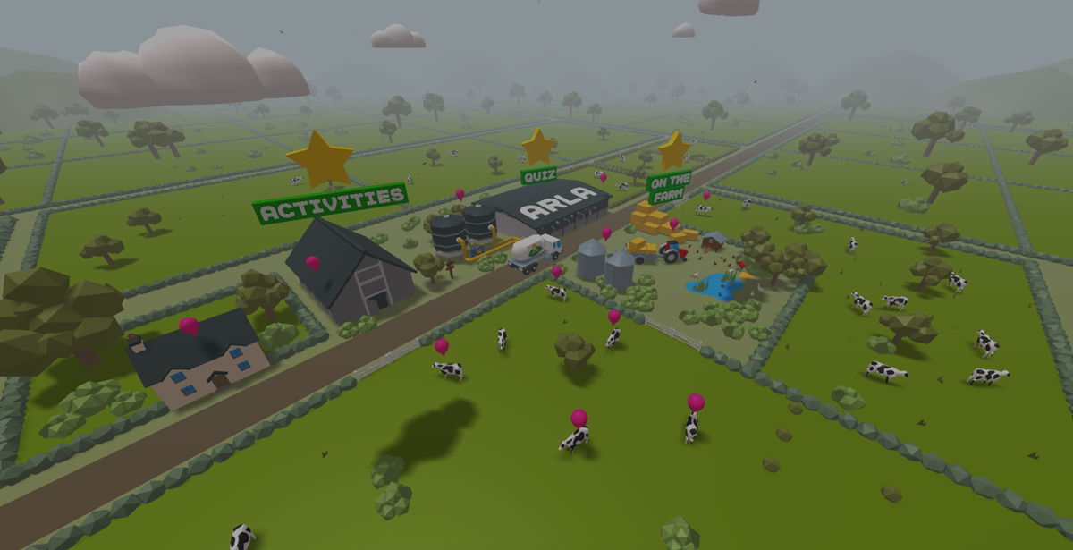 Arla Open Farm 3D minisite view