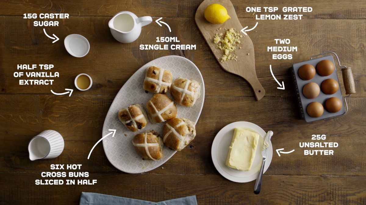 Ingredients for hot cross buns