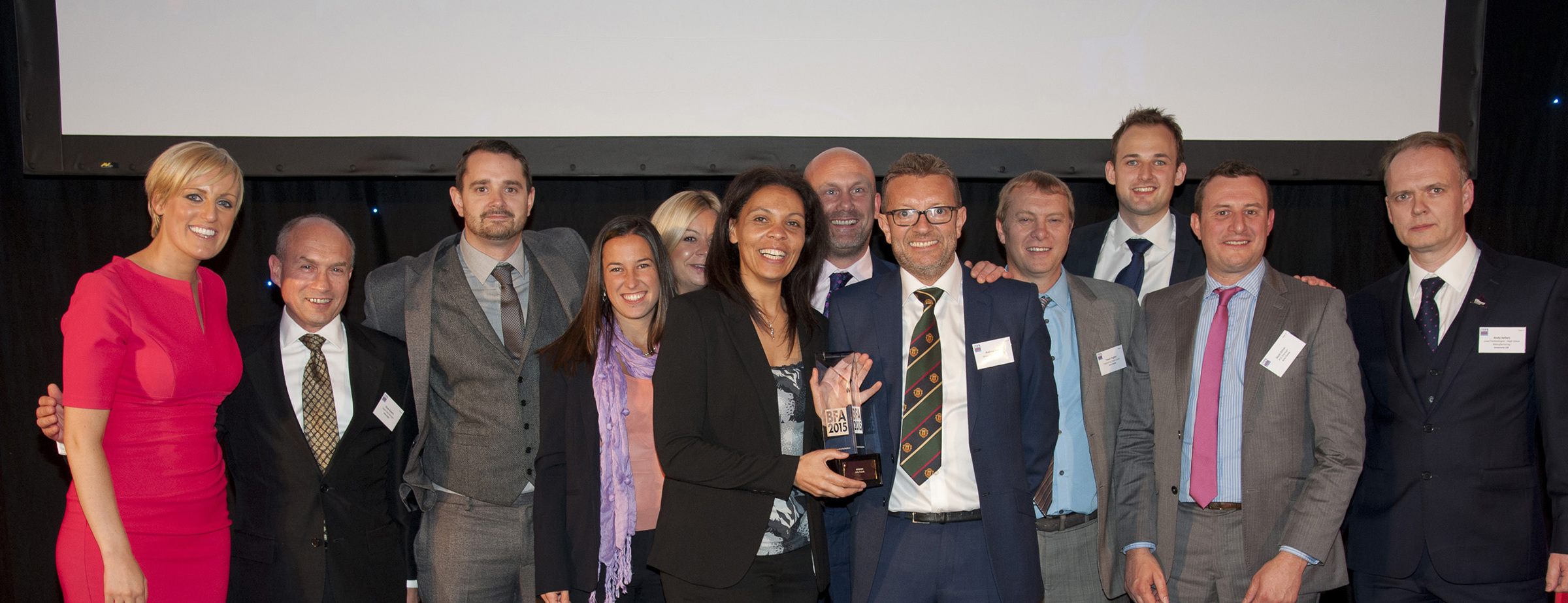 Arla Aylesbury celebrating their Innovation award at the Best Factory Awards 2015
