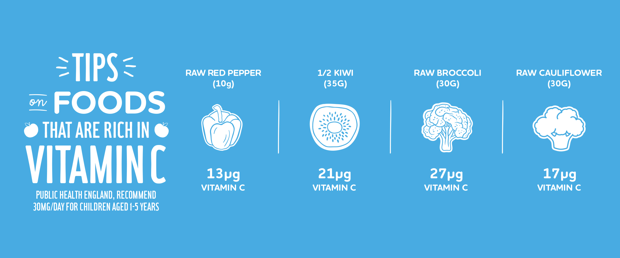 Tips on foods that are rich in Vitamin C infographic